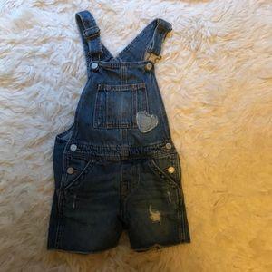 GAP short jean overalls LIKE NEW 5T